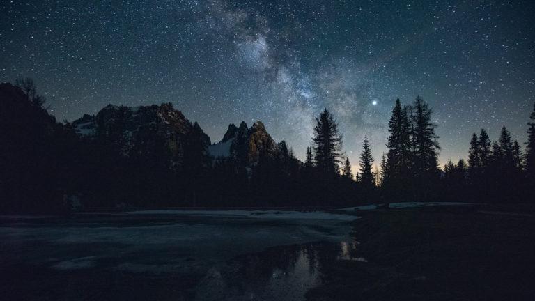 Voie lactée Dolomites